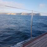 Widok na wyspę ze statku